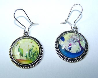 Earrings 'The world in colors'