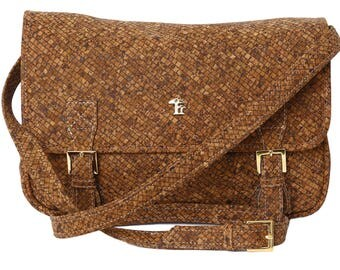 "Shoulder bag made of Cork, Lady's handbag ""Texas"""