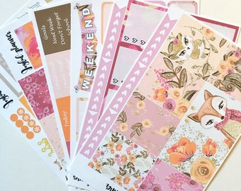 Woodland planner stickers weekly kit Fall planner stickers for Erin Condren ECLP and MAMBI Happy Planner
