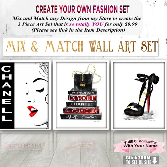 wall posters for bedroom. Instant download  Bedroom Wall Posters Printable Fashion Art