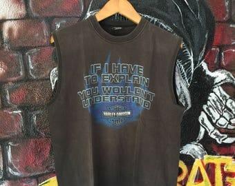 Vintage Harley Davidson Sleeveless Shirt