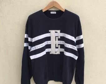 Vintage Elle Homme Crewneck Sweatshirt Spell Out Logo