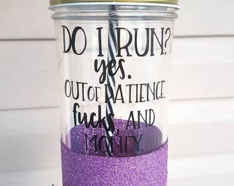 24oz glitter dipped mason tumbler- mason jar- drink ware- glitter- Camping cup- mom cup