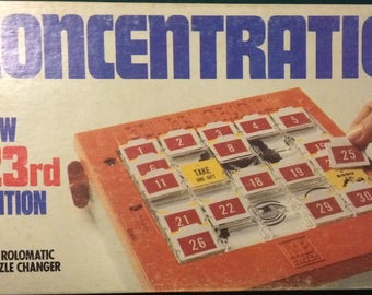 Vintage 1979 Concentration Game New 23rd Edition from Milton Bradley  (Complete game in original box)