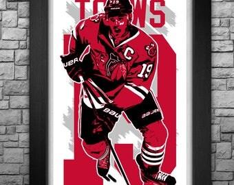 "JONATHAN TOEWS 11x17"" art print."