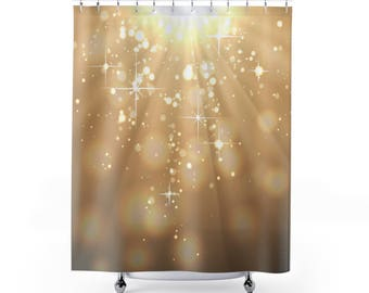 Gold shower curtain | Etsy