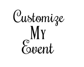 Customize My Event