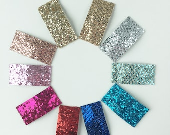 Glitter snap clip - set of 3 / snap clips, toddler hair clips, toddler barrettes, hair clips for girls, glitter snap clips
