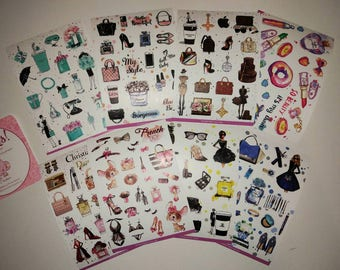 Set of 8 pages A6 size Planner Stickers