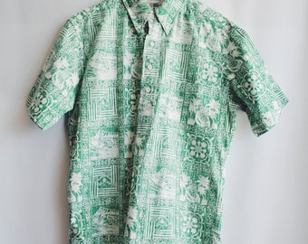 Vintage green Hawaiian shirt
