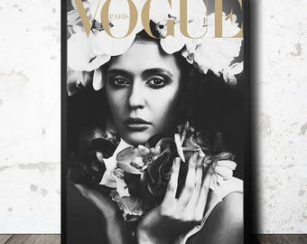 Magazine cover. Girl poster. Printable fashion artwork. Instant download