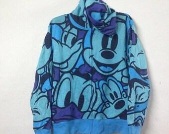VENTA 15% VINTAGE MICKEY Mouse Tokio disney suéter con capucha fullprints multicolor Talla m