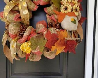 Whoo Halloween Wreath