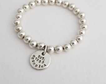 Personlised Silver ID Disc Bracelet