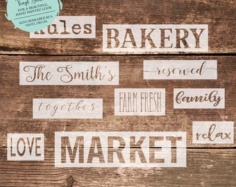 Custom Single-Line STENCIL // Custom Single-Line Decal // Custom Word Stencil// Pallet Project // DIY Sign