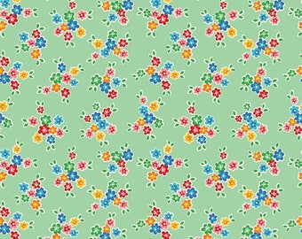 Riley Blake Arbor Bouquet  Cotton Quilting Fabric Green
