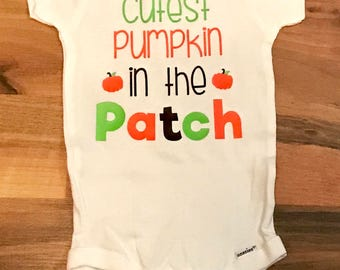 Cutest Pumpkin in the Patch Onesie, Fall Onesie, Happy Fall Y'all, Pumpkin Patch, Funny Onesie, Baby Shower Gift