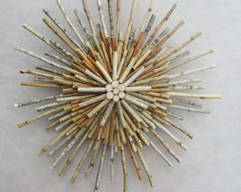 Door wreath, birch sticks wreath, wood wreath, white birch sticks decor, wall hanging, birch sticks hanging,rustic decor,birch sticks wreath