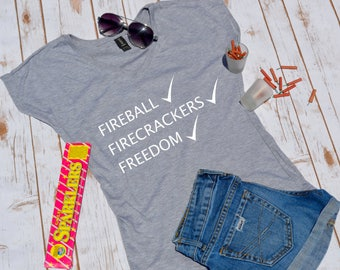 Fireball, Firecrackers, and freedom- Fourth of july shirt- fourth of july- fourth of july tshirt- fourth of july party shirt-fourth of july