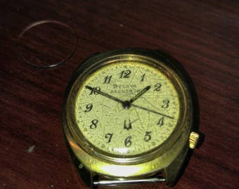 Vintage NOT  Working 1967 BULOVA Accutron 2180 Art Deco Tuning Fork Men's Wrist Watch