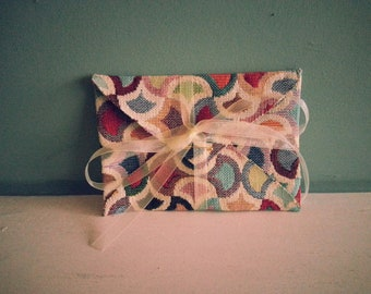 Multi-Coloured Thick Handmade Fabric Envelope / Gift Pouch - ideal for invitations, gift vouchers, your own handmade cards