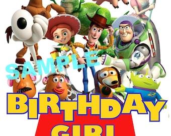 Toy Story Birthday Iron On Shirt Transfer, Disney Jessie Woody Buzz Lightyear tshirt or clip art printable, Birthday Girl