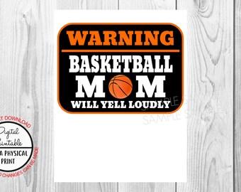 Basketball Mom Birthday Iron On Shirt Transfer, Sports tshirt or clip art poster sign printable, Instant Download, warning baseball mom