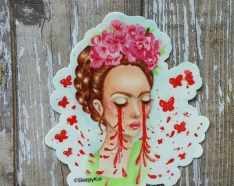 Rebirth - 3 Inch Weatherproof Vinyl Sticker inspired by Frida Kahlo. Back to School Planner Accessories Car Phone Laptop Stationery Notebook