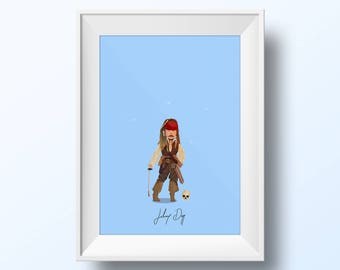 Johnny Depp - Pirates of the Caribbean Poster