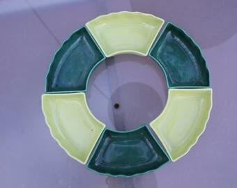 1950u0027s vintage california pottery sylvan lazy susan 6 piece no bowl no tray
