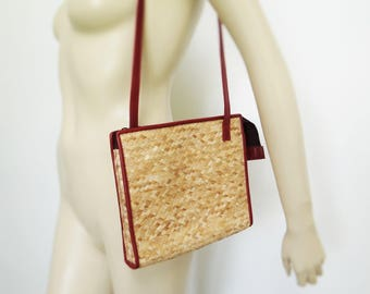 Rattan Bag, Boho Bags, Rattan Purse, Shoulder Bag, Handbag, Hippie Bag, Ladies Purses, Faux Leather Purse, Rattan, Wicker Bag, Festival Bag