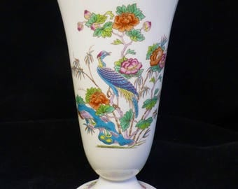Wedgwood Kutani Crane Vase – 7 inch – Gold Trim - Fine Bone China - Made in England