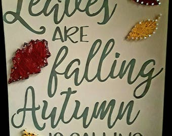 Leaves and falling decor