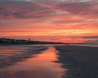 Isle of Palms Sunrise - beach photograph - ocean sea art photography