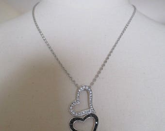 double silver plated Heart Necklace