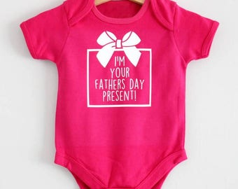 New baby fathers day present vest