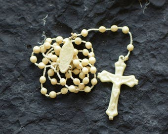White Plastic Rosary