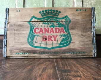Original 1964 Wooden Canada Dry Soda Crate