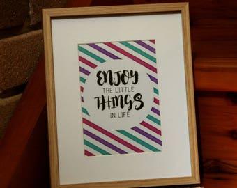 Inspirational Print 'Enjoy'