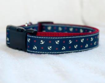 "Anchor 1"" Dog Collar"