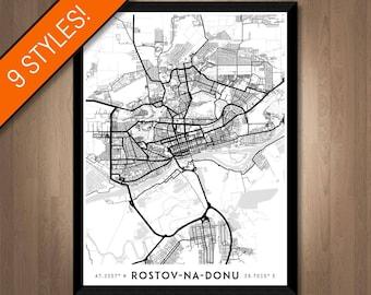 Every Road in Rostov-na-Donu map art   Printable Russia map print, Rostov-na-Donu print, Rostov-na-Donu poster, Rostov-na-Donu art