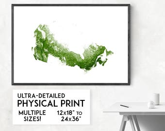 Forests of Canada print | Physical Canada map print, Canada poster, Canada art, Canada map art, Canada wall art, Canada gift, Map of Canada