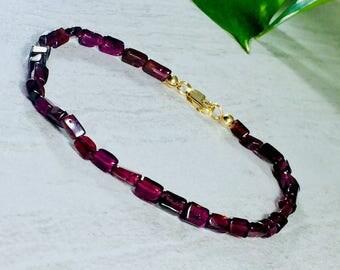 Garnet Bracelet with Clasp