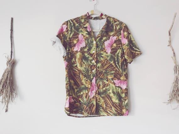 Pink and Green Hawaiian Shirt