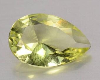 Beautiful 3.25 Cts  Natural Unheated Lemon Quartz Pear 13.9 x 9.1 x 5.2 mm  Loose Gemstones