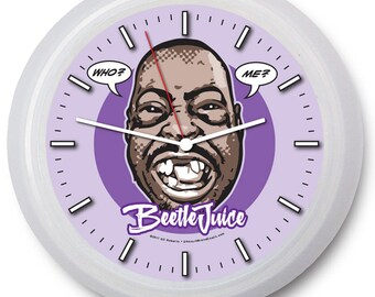 "King of the Wackpack ""BEETLEJUICE"" 9"" Wall Clock w/FREE battery!"