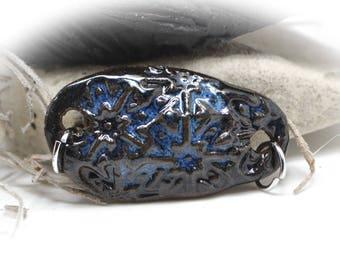 Gypsy Blues - Handmade Stoneware Pendant #382