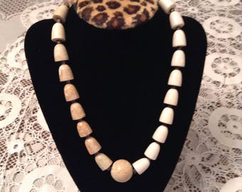 Very Nice Heavy Stone Beaded Necklace