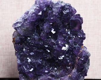 Best Large Raw Purple Fluorite Quartz Cluster/Pueple Fluorite decor/Colorful Rock/Healing Stone/Calming/Charka-153*122*33mm 831g