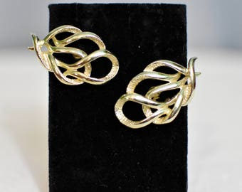 Sarah Coventry Gold Knot Earrings